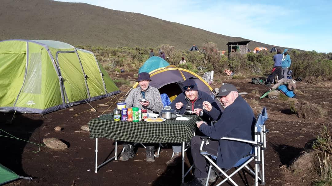 Breakfast at Shira 1 Camp
