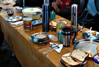 Breakfast on Kilimanjaro in Mess Tent