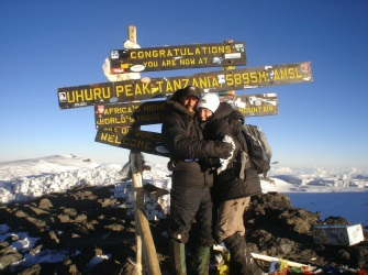 Brother And Sister on Kilimanjaro Summit