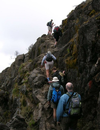 Climbers First Rock Step Machame Route