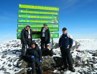 David Squire Family at Kilimanjaro Summit