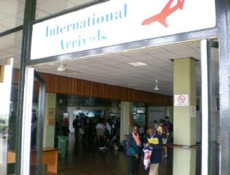 Entering Kilimanjaro Airport Arrivals Hall