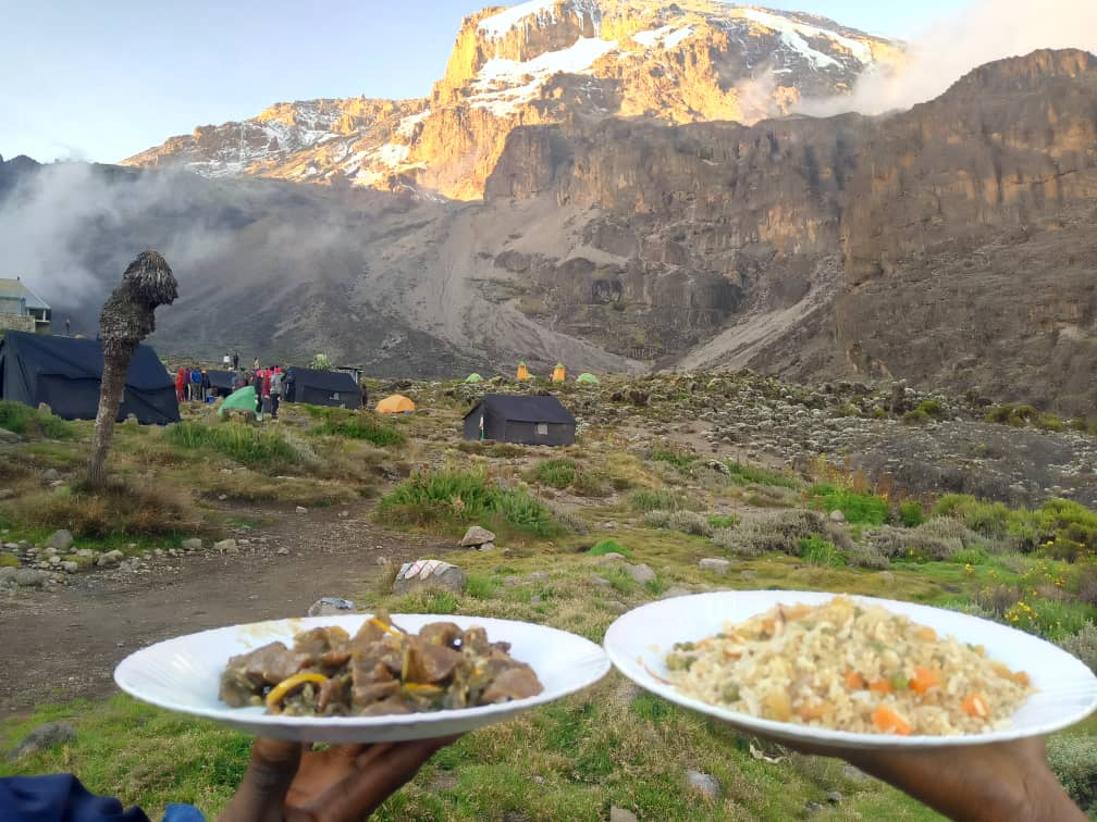 Team Kilimanjaro Food at Barranco Camp