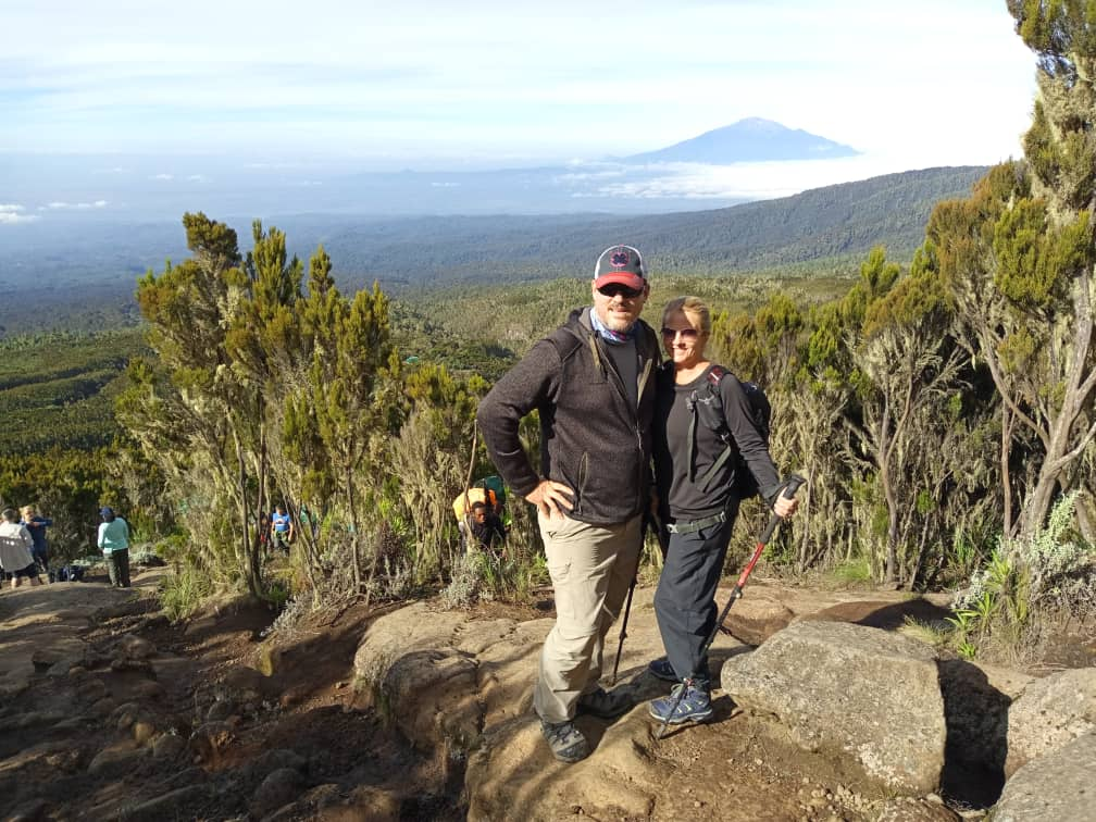 Happy Couple Near top of Machame Ridge