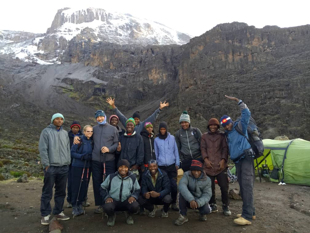 Happy Crew and Climbers Barranco Camp