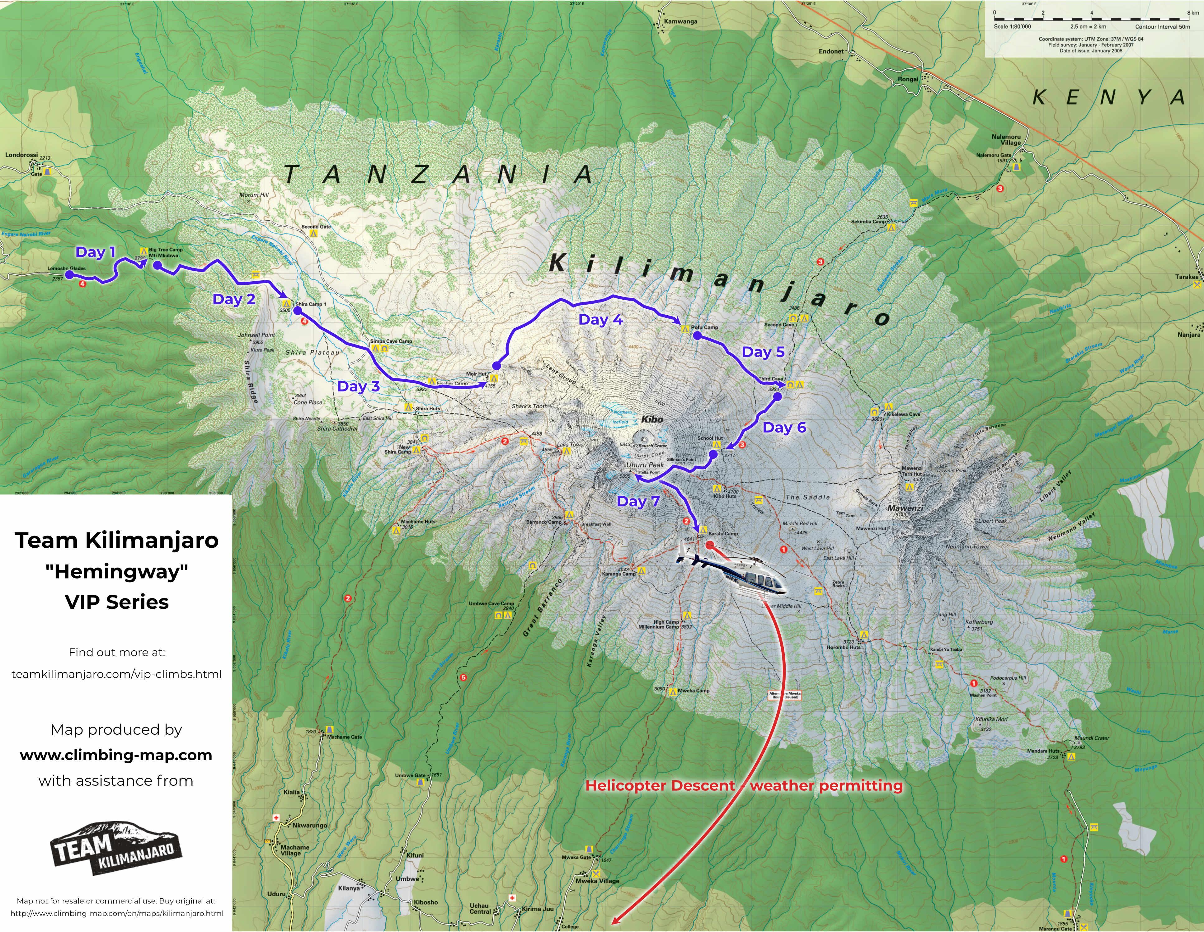 Kilimanjaro VIP Climb Route