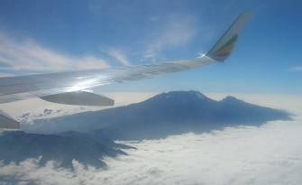 Kilimanjaro from an Airplane