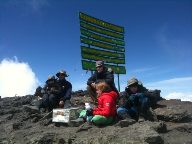 5 year old on Kilimanjaro