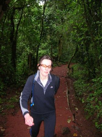 Rebecca Rees Evans on Marangu Route