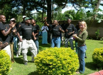 Team Kilimanjaro Celebrates Seeing Trudie Roos