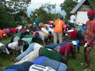 Team Kilimanjaro Staff Doing Push Ups